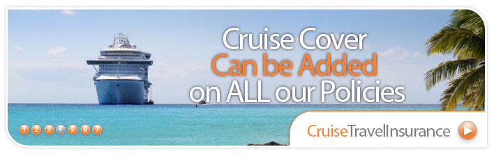Cruise Cover included FREE on all our policies