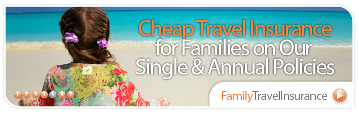 Kids Go FREE on all our single trip family policies